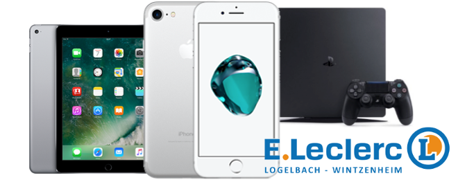 iPhone 7, iPad Air 2, PlayStation 4, Leclerc